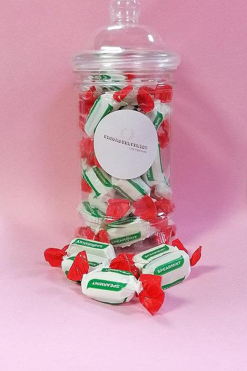 Stockley Sugar-Free Spearmint Chews Sweets Jar
