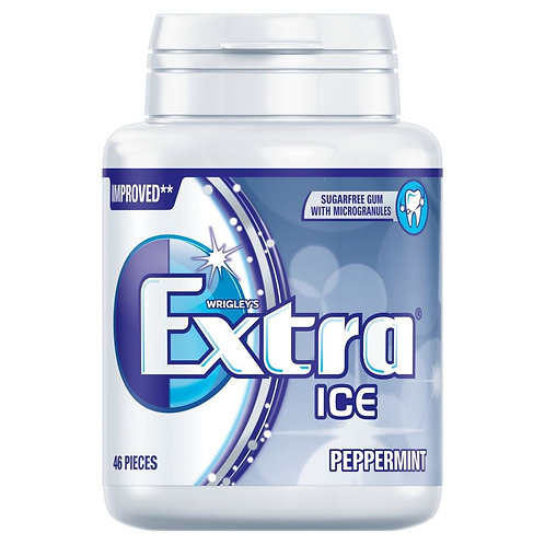 Wrigley's Extra Ice Peppermint Sugar Free Chewing Gum Bottle 64g