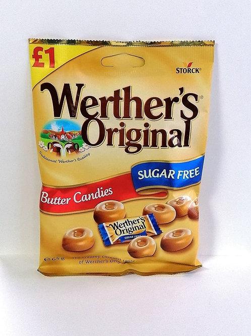 Werther's Original sugar free Butter Candies sweets 65g