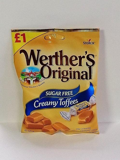 Werther's Original Sugar free Creamy Toffees sweet 65g