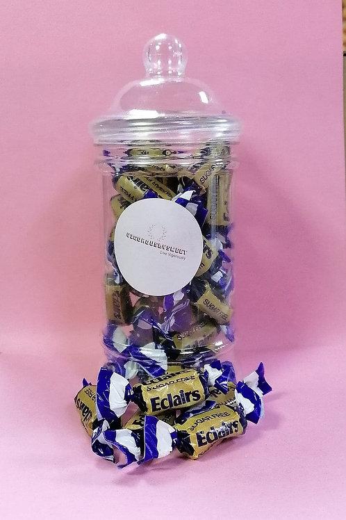 Bonds Sugar Free Chocolate Eclairs Sweets Jar