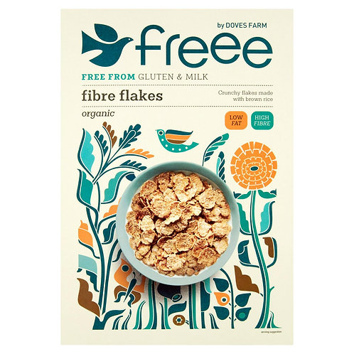 Doves Farm Organic Gluten Free Fiber Flakes 375g