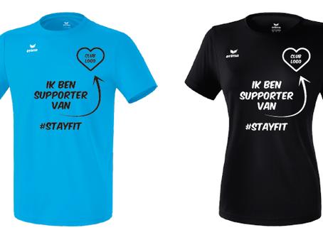Koop een #stayfit-shirts en steun Furore!