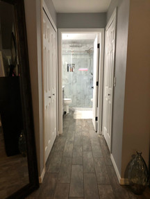 Tile Floor/ Marble Shower