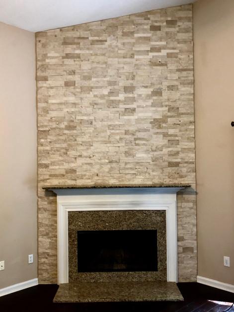 Stone Fireplce Installation