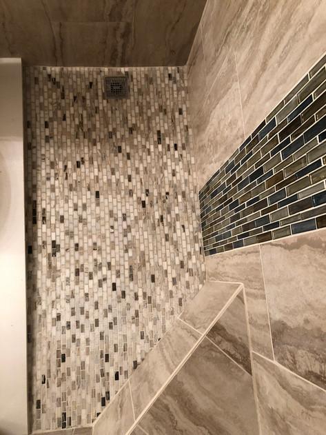 Mosaic Shower Floor