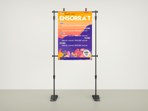 Ensorra't Poster Mockup