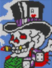 Skull cross stitch chart
