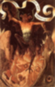 Satan from Triptych of Earthly Vanity and Divine Salvation Hans Memling's   (.1485)