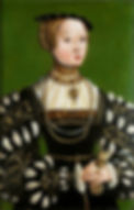 Elizabeth of Austria Queen consort of Poland Grand Duchess of Lithuania  She was the eldest of fifteen children of Ferdinand I, Holy Roman Emperor,  Portrait by Lucas Cranach the Younger  1551