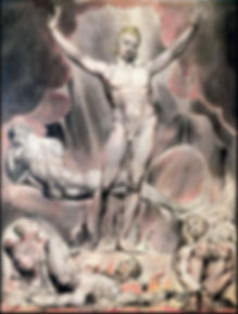 Paradise Lost 1808 The engraving depicts Satan inciting the rebel angels against God. By William Blake