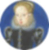 Katherine Seymour,Countess of Hertford  A granddaughter ofHenry VIII's sisterMary, ArtistLevina Teerlinc .1560