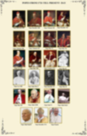 POPES FROM 1721 TILL PRESENT DAY