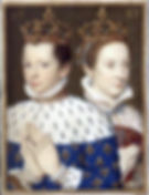 Mary Queen Scots  and Francis in Catherine de' Medici's book of hours By Unknown Artist  1558