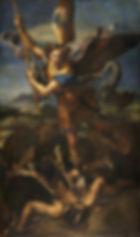 St. Michael Vanquishing Satan (1518) byRaphael,