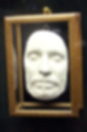 Oliver Cromwell's death mask at Warwick Castle