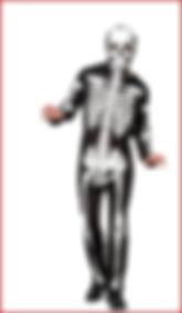 Adult Halloween Skeleton Fancy Dress Costume - Size S-M - Black from ASDA George