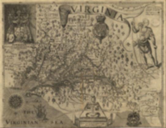 Map of John Smith's  of Virginia