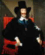 Charles at his trial, by Edward Bower, 1649