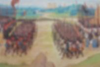 Battle of Agincourt(1415) Painting byChroniques d'Enguerrand de Monstrelet (early 15th century)