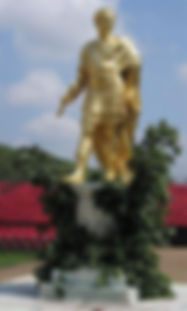 Statue of Charles II (c. 1682) in ancient Roman dress by Grinling Gibbons at the Royal Hospital Chelsea