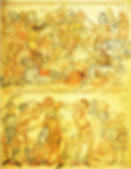 Battle of Bannockburn A depiction of the Battle of Bannockburn from the Holkham Bible 1327-35