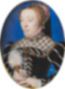 Catherine de Medici Mother to three FrenchMonarchs Portrait attributed toFrançois Clouet, 1555