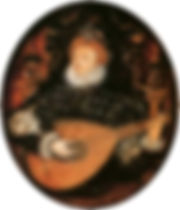 Elizabeth I playing the lute   1580