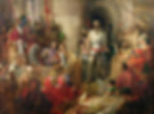 William Wallace's trial in Westminster Hall. Painting byDaniel Maclise 1870