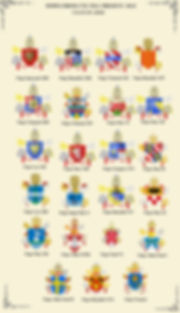 POPES FROM 1721 TILL PRESENT DAY COATS OF ARMS