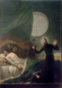 St. Francis Borgia Helping a Dying Impenitent  (1788) by Francisco Goya