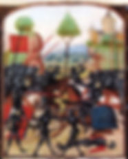 Illustration of the Battle of Barnet (14 April 1471) By an Unknown Artist 15th century