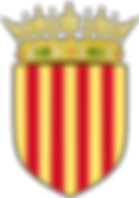The coat of Arms of The flag of The Crown of Aragon