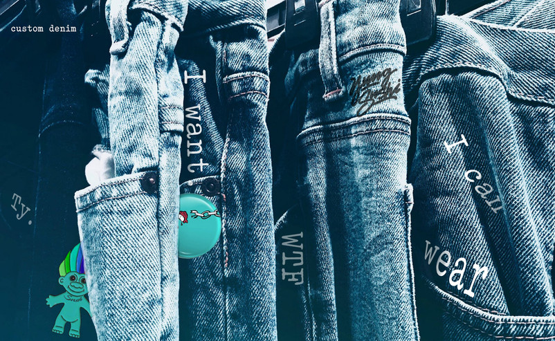 denim x pins