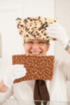Woman holding chocolate