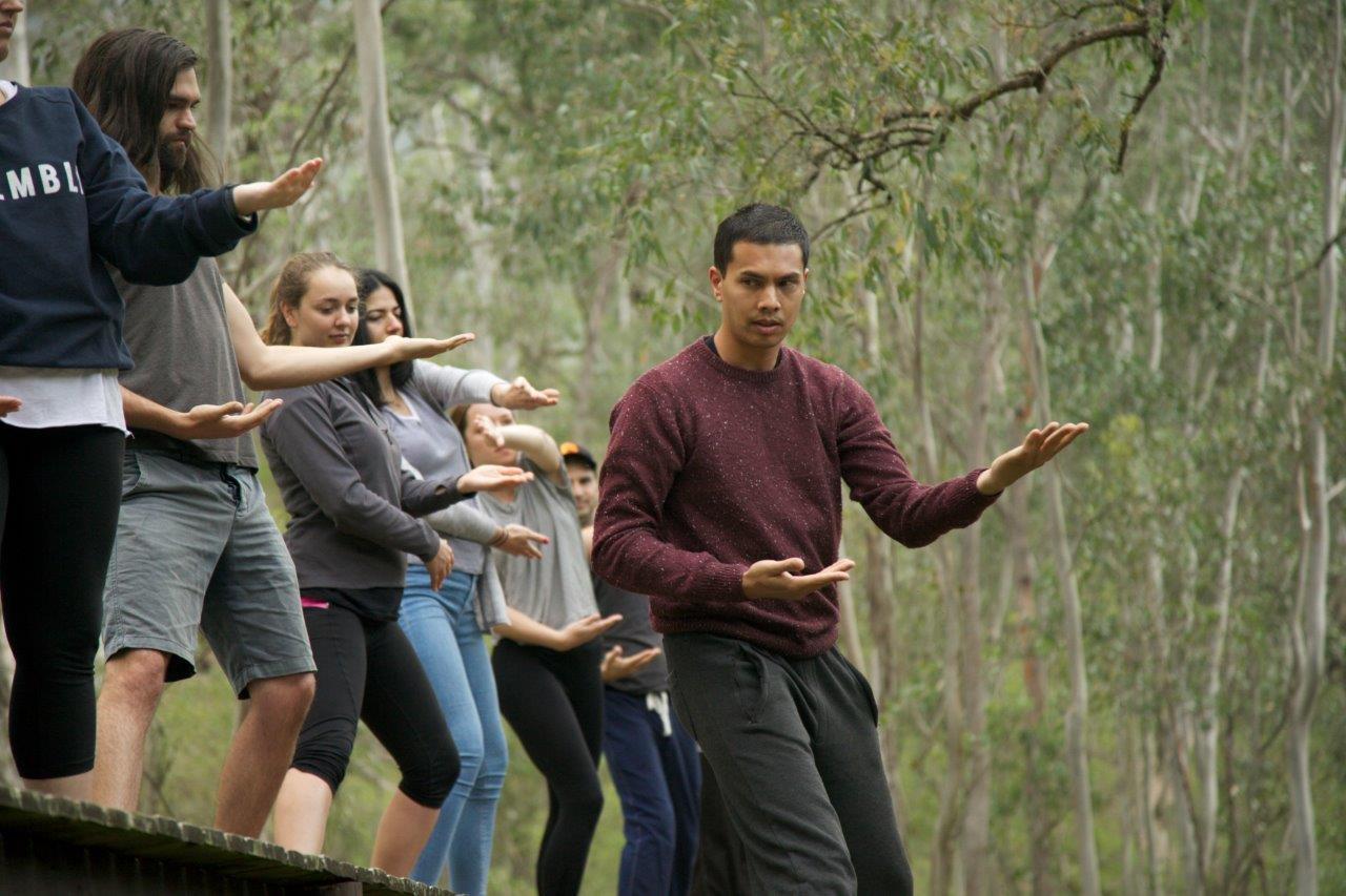 Awakening the yin and yang - An impromptu Tai Chi session to awaken another day of adventure with Frasers Property Group's sustainability team.