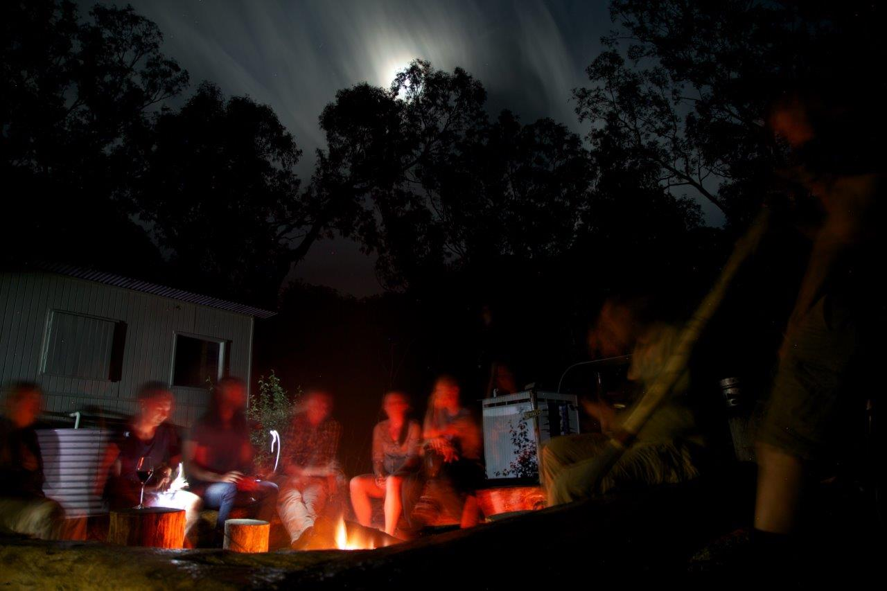 Deeper connections - A night round a campfire with close companions is an experience to savor for a lifetime.