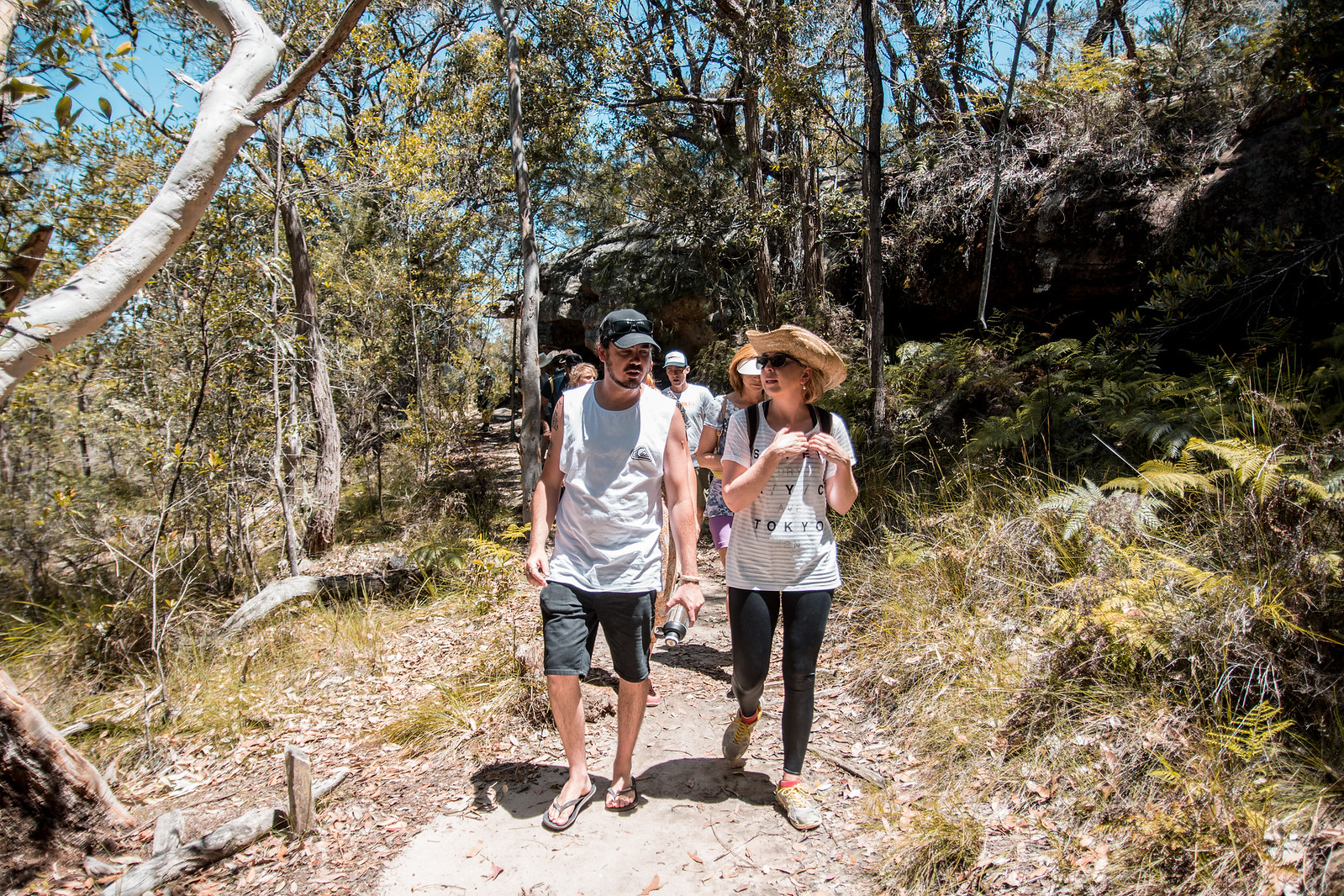 Walking from site to site through the bush with Stuart and learning more along the way!