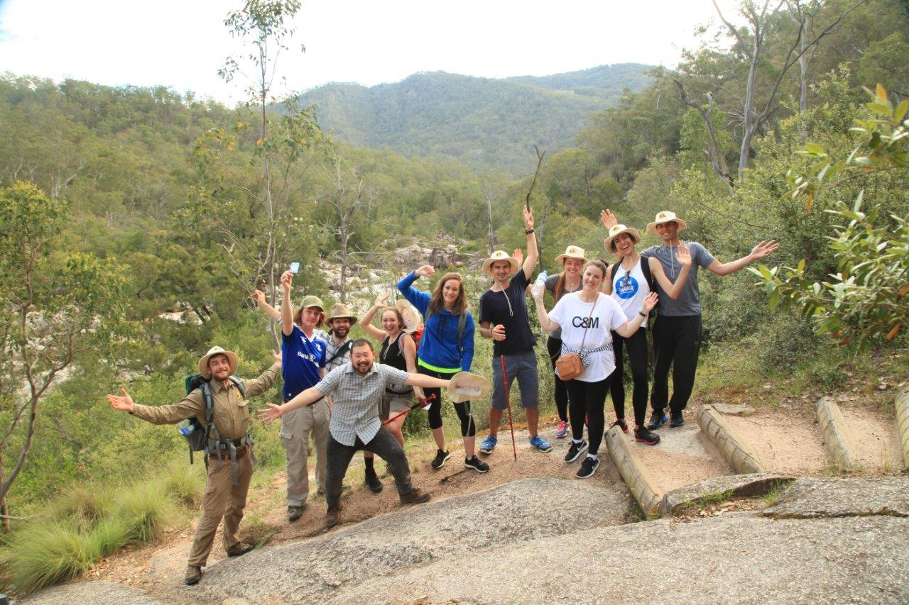 We made it! - Taking a moment to soak up the scenery after completing a spectacular crossing of the Coxs River.