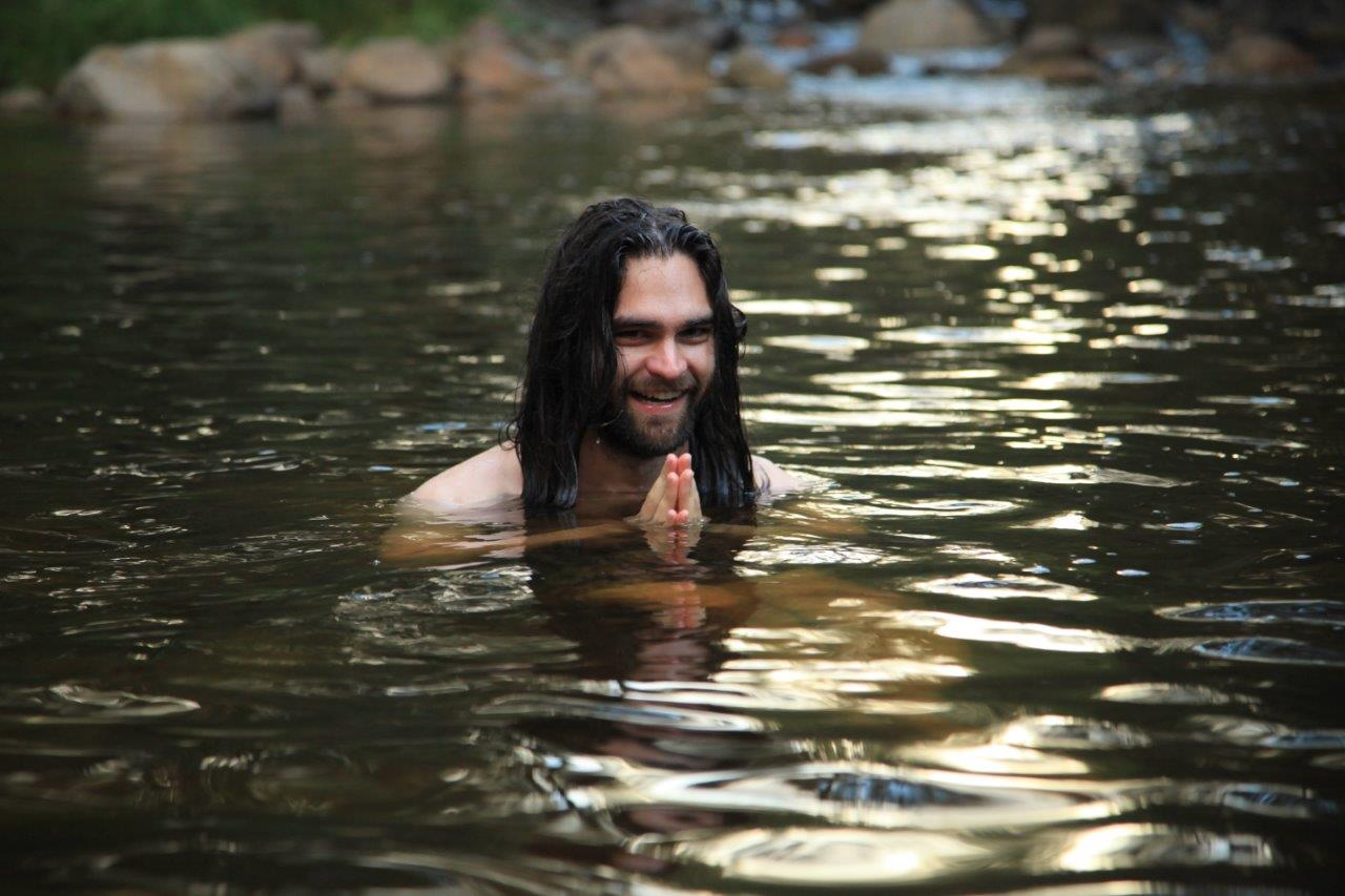 Feeling refreshed - aking a quick dip before dinner and becoming more intimately connected with the natural environment of the Blue Mountains.