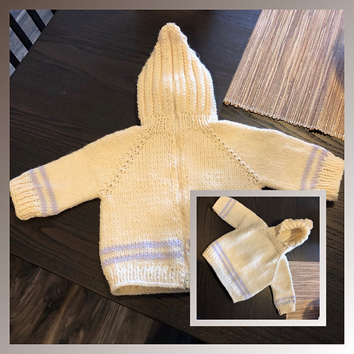 Back-Zip Baby Sweater Pattern