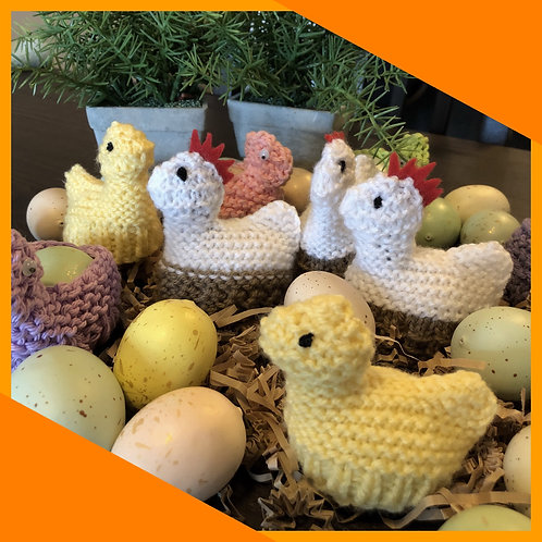 Easter Hen & Chick Pattern