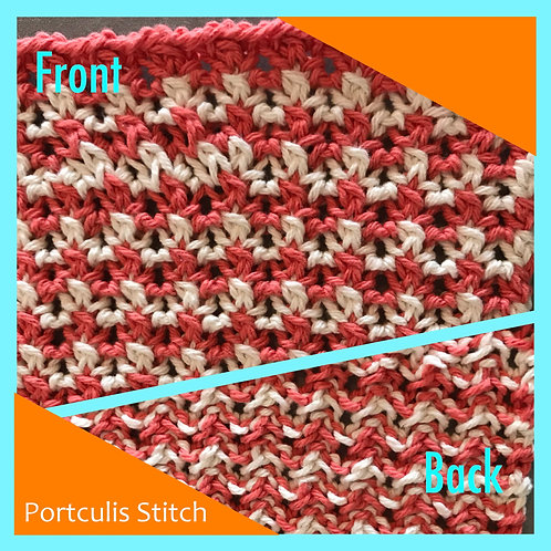 Dishcloth - Portcullis Stitch