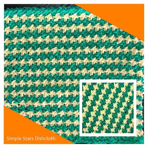 Dishcloth - Simple Stars