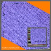 Waffle Stitch Dishcloth