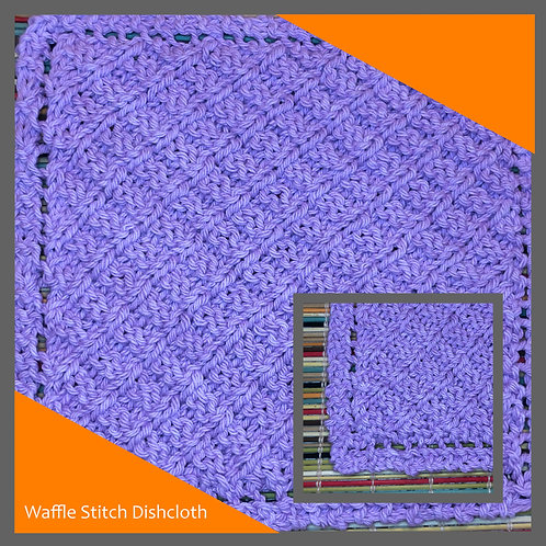 Dishcloth - Waffle Stitch