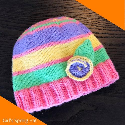 Child's Spring Hat Pattern