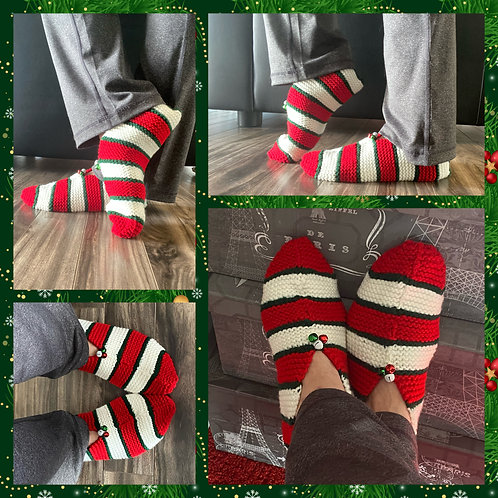 Christmas Candy Slippers