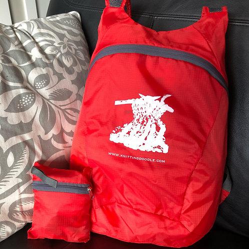 Fold-Away Backpack Shopping Bag