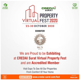 Sun Realtors at Credai Virtual property Fest